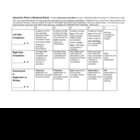 Interactive Grammar Notebook RUBRIC