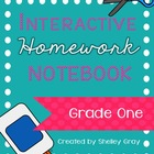 Interactive Homework Notebook {Grade 1}