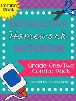 Interactive Homework Notebook {Grade 1/2 COMBO PACK}