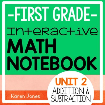 Interactive Math Notebook for 1st grade {Unit 2: Addition and Subtraction}