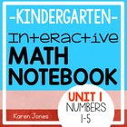 Interactive Math Notebook for Kindergarten {Unit 1: Numbers 1-5}
