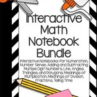 Interactive Math Notebooks- Bundle of 8 Math Topics