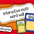 Interactive Math Word Wall Primary Colors {Kindergarten}