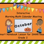Calendar Math SMARTBoard for October Common Core - Attenda