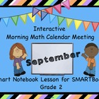 Interactive Morning Math Calendar Meeting SMARTBoard for S