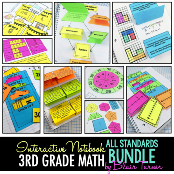 Interactive Notebook: ALL 3RD GRADE STANDARDS MEGA-BUNDLE