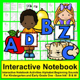 Interactive Notebook Kindergarten First Grade Alphabet Beg