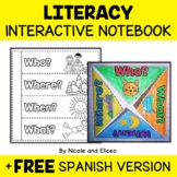 FREE 4 FOLLOWERS - Interactive Reading Notebook  (English
