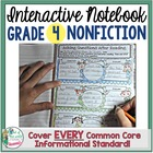 Interactive Notebook: Grade 4 Reading Informational {Cover