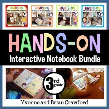 Interactive Notebook Hands-On Third Grade Common Core Bundle
