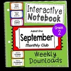 Interactive Notebook Monthly Club- September {2nd grade}