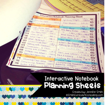 Interactive Notebook Planning Sheets {FREEBIE}