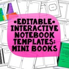 Interactive Notebook Templates: Mini Books {Commercial Use