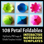 Interactive Notebook Templates - Petal Pack - 108 Templates!
