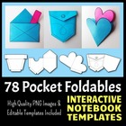 Interactive Notebook Templates - Pocket Pack - 78 Templates!