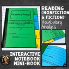 Interactive Notebook: Vocabulary Analysis Mini Book