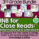 Interactive Notebook for Close Reads Bundle: 3rd Grade