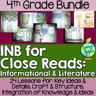 Interactive Notebook for Close Reads Bundle: 4th Grade FRE