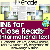 Interactive Notebook for Close Reads of Informational Text