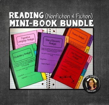 Interactive Notebooks Bundle: All 5 Mini-Books for Reading
