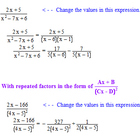 Interactive Partial Fraction Checker and Handout