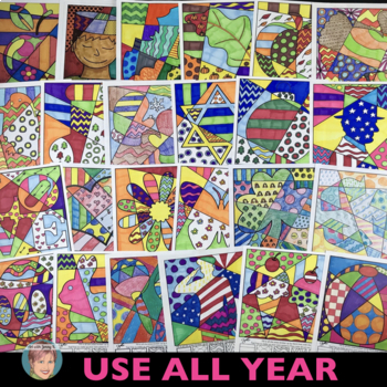 Pop Art Coloring Book: Interactive Coloring Sheets for All Holidays and Seasons