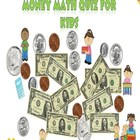 Interactive PowerPoint Money Math Quiz for Kids