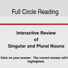 Interactive PowerPoint - Singular and Plural Nouns - 1st Grade