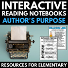 Interactive Reading Notebooks: Author's Purpose - Common C