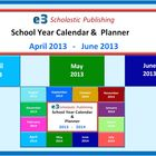 Interactive School Calendar & Lesson Planner for April, Ma