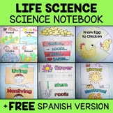 Interactive Science Notebook - Life Science (English & Spanish)
