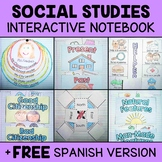 Interactive Social Studies Notebook (English & Spanish)