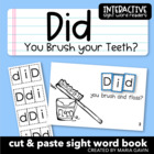 "Interactive Sight Word Reader ""DID You Brush Your Teeth?"""