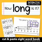 "Interactive Sight Word Reader ""How LONG is It?"""