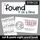 "Interactive Sight Word Reader ""I FOUND it on a Dime"""