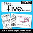"Interactive Sight Word Reader ""I Have FIVE Senses"""
