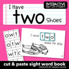 "Interactive Sight Word Reader ""I Have TWO Shoes"""