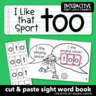 "Interactive Sight Word Reader ""I Like that Sport TOO"""