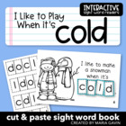 "Interactive Sight Word Reader ""I Like to Play When it's COLD"""