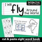 "Interactive Sight Word Reader ""I Will FLY Around the World"""