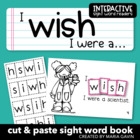 "Interactive Sight Word Reader ""I WISH I Were a…"""