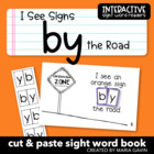 "Interactive Sight Word Reader ""I See Signs BY the Road"""