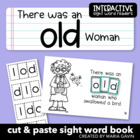 "Interactive Sight Word Reader ""There was an OLD Woman"""