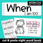 "Interactive Sight Word Reader ""WHEN I am 100"" for 100th Da"