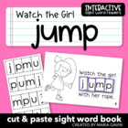 "Interactive Sight Word Reader ""Watch the Girl Jump"""