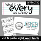 """Interactive Sight Word Reader """"What is on EVERY US Nickel?"""""""