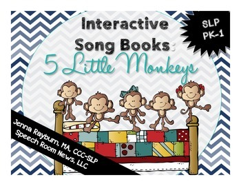 Interactive Song Book: 5 Little Monkeys
