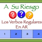 Interactive Spanish Powerpoint Writing Activity with Regul