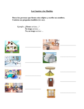 Interactive Spanish Speaking Activity with Room Furniture