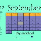 Interactive Whiteboard Calendar for Smartboard - September 2012